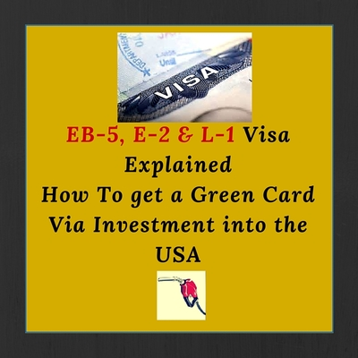 What is The Best Investment Visa for International Investors Interested in Permanent Residency in The USA? Details on EB-5, E-2 & L-1 Visa