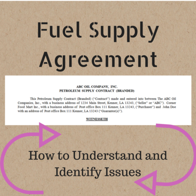 Gsb 45 What Is A Fuel Supply Agreement How To Understand And